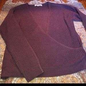 Purple Wrap Sweater